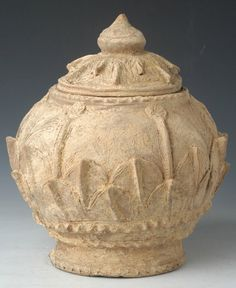 Five Dynasties, Rare Chinese Pottery Incised Jar, China, Five Dynasties, A.D. 907 - 960