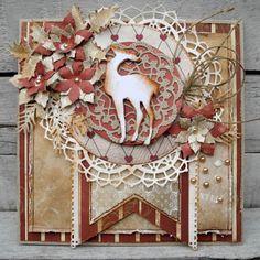 jeg har i dag lavet julekort hvor jeg igen har brugt papir fra Riddersholm og forskellige sizzix dies og andre mærker jeg har b...
