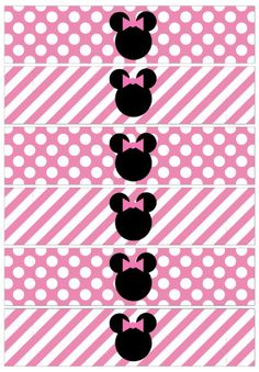 Minnie Mouse Zebra o Cebra. Minnie Mouse 1st Birthday, Minnie Mouse Theme, Pink Minnie, Baby Mouse, Anniversaire Hello Kitty, Mickey Party, Party Decoration, Mouse Parties, Disney Parties