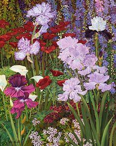 John's Garden by John Powell, Oil, 30 x 24 Henri Matisse, Botanical Line Drawing, Oil Painting Flowers, Colorful Paintings, Art Studies, Garden Art, Flower Art, Watercolor Art, Art Projects