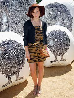 Emma Watson at Coachella in Mulberry