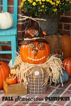 Fall Scarecrow Pumpkin Giggles Galore