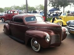 SlmLrd's 1940 Plymouth at Mooneyes