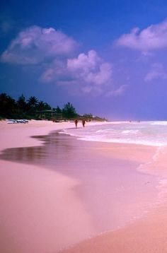 Pink Sand Beach Harbour Island Bahamas Looks Even More Than The