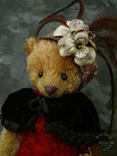 Wren One Of a Kind Girl Mohair Artist Teddy Bear by aerlinnbears