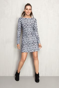 vestido moletom estampado devore | Dress to