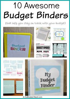 Creating a budget is critical to keeping track of your money, staying within your budget and paying off any debt. But a budget can be hard to plan and set up if you don't have experience with making one. This is where a budget binder comes in handy! Here are 10 awesome Budget Binders that can help you get started! Living on a budget, personal finance, frugal living, budget printables