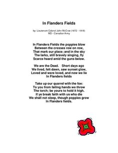 remembrance day patriotic etc american  in flanders fields a remembrance day poetry assignment