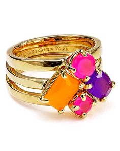 Bloomingdales | kate spade new york Cluster Rings, Set of 3 #bloomingdales #katespade #ringset