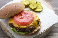 Skinny and Simple Hamburgers recipe by skinnymom photo of completed meal