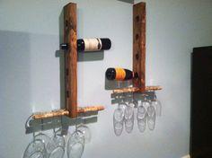 Wood Wine Rack by MadeByMarkinc on Etsy, $50.00