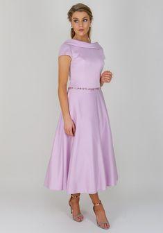 a140e53b864220 Ronald Joyce Occasions Flared Midi Dress