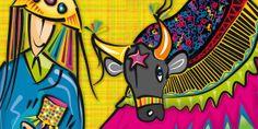 O Boi Bumbá do Maranhão é um dos grandes patrimônios imateriais do Brasil.  Espalhando-se pelo Brasil, o bumba-meu-boi adquire características diversas na forma da dança, ritmo, personagens e até na forma de interpretar o enredo. Série Design Brasil de Lu Paternostro. The Bumba-meu-boi Complex is a intangible heritage of Brazil. Brasil Theme Design by Lu Paternostro #lupaternostro #designbrasil #euamocriar