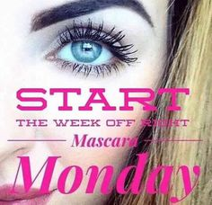 Mascara Monday!!!  Browse my site and try the 3D Mascara difference!!!  You'll be glad you did!!!  www.youniqueproducts.com/PamKey