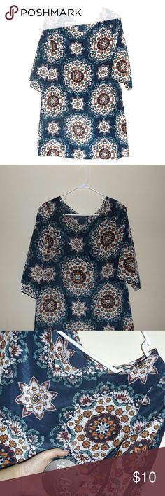 Size Large Floral Boho Hippie Festival Dress New with tags dress Be Bop Dresses Midi
