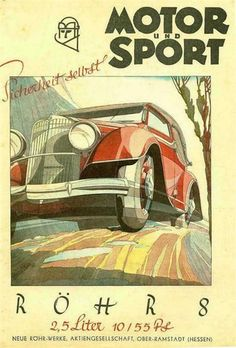 Röhr 8 - Motor und Sport Cover (1932): Graphic by Bernd Reuters