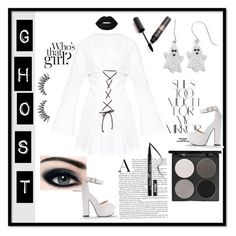 """Ghost night"" by frida-marie-ording ❤ liked on Polyvore featuring Rika, Gorgeous Cosmetics and Kat Von D"