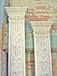 Shabby Chic Victorian Columns Decorative Furniture by diychicgirl