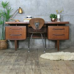 Mid Century G Plan Fresco Dressing Table / Desk
