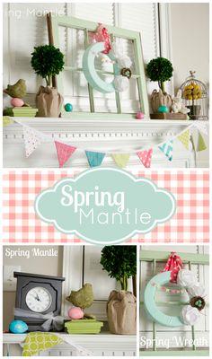 spring mantle ideas