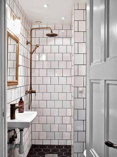 Image result for bathroom black white copper
