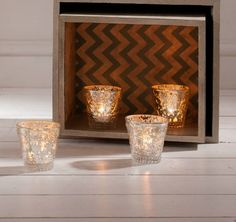 Chapelle Tealight Holder  (4pk)