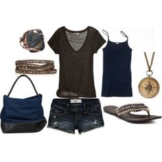 Everyday easy style - not sure I could pull off the short short...but cute stuff.