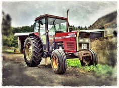 Tractor Massey Ferguson 365 Red Tractor, Tractors, Livestock, Tractor, Tractor Pulling
