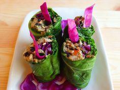 Wholly Vegan: VeganMoFo 15: Collard Rolls with Sunflower Seed Pâté