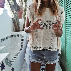 🌵 by sincerelyjules Looks Style, Style Me, Estilo Hippy, Love Fashion, Fashion Outfits, Look Boho, Mode Style, Spring Summer Fashion, Spring Style