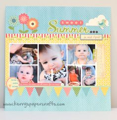 #papercraft #scrapbook #layout  Sweet Summer ..... in April Scrapbooking Layout Idea