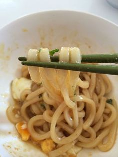 """Udon oil udon"" is super easy but delicious! Light Recipes, Wine Recipes, Asian Recipes, Gourmet Recipes, Veggie Recipes, Cooking Recipes, Healthy Recipes, Asian Cooking, Easy Cooking"