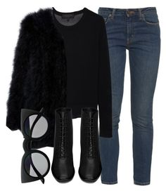 Untitled #5016 by laurenmboot on Polyvore featuring polyvore, fashion, style, rag & bone, Yves Saint Laurent and Retrò