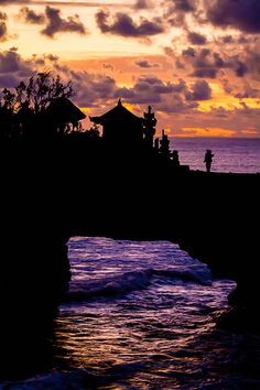 Edge of the World - Tanah Lot temple in Bali Indonesia