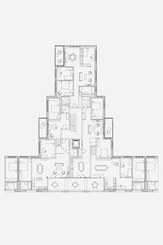 Esch Sintzel - Brunnmatt ost Plans Architecture, Architecture Drawings, Residential Architecture, Architecture Design, Residential Building Plan, Architectural House Plans, Floor Plan Layout, Loft Interiors, Floor Plans