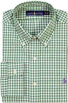 POLO RALPH LAUREN Polo Ralph Lauren Men'S Tattersall Poplin Sport Shirt. #poloralphlauren #cloth #