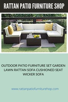 UPGRADED COMFORT – Water resistant cushions filled with thick sponge for optimal comfort and relaxation.Wide and deep seat will provide enough room to set comfortably HANDWORK MATERIAL – Made of strong galvanized steel frame,weather-resistant hand woven PE rattan can withstand changeable weather,won't rust or fade,guaranteed to give you a weather resistant set that will last your for years to come number of configurations . Rattan Sofa, Cushions On Sofa, Sofa Set Designs, Patio Furniture Sets, Galvanized Steel, Steel Frame, Rust, Weather, Strong