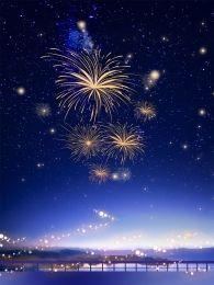 Grimm Fantasy Cartoon Background Fireworks Background Holiday Background Images New Year Background Images