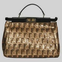 Fendi First Choice for The Season 2291 Gold and Bronze - Black