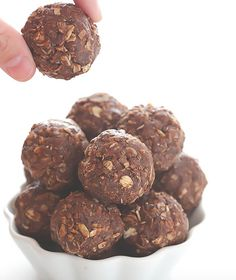 Chocolate peanut butter no bake energy bites