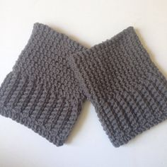 Solid Gray Women's Boot Cuffs by GinghamAndGraceEtsy on Etsy