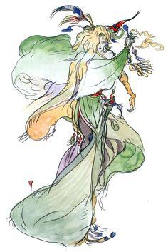 Yoshitaka Amano - Sorceress - Final Fantasy IV