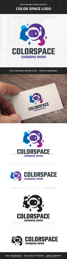 Color Space Logo Template by LiveAtTheBBQ The Color Space Logo TemplateA creative logo design for many kinds of business. All elements are fully vector and can be used for