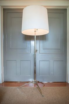 Dauphine floor lamp in aged iron with natural paper shade by studio floor lamp in polished nickel with natural paper shade by visual comfort co mozeypictures Images
