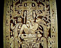 sarcophagus of King Pakal | Interpretation 3 :: The sarcophagus lid depicts Pakal as he falls into ...