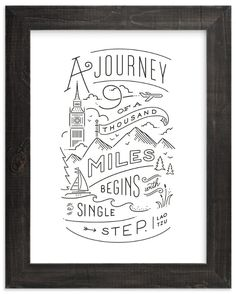 Journey of a thousand miles Wall Art Prints by Jennifer Wick   Minted