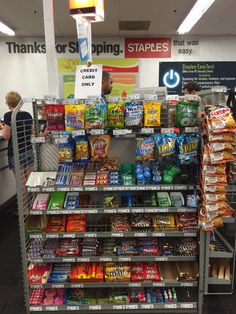"Staples' slogan is ""That Was Easy."" But candy at checkout makes shopping harder for customers--particularly those shopping with kids. (Staples, Bethesda, MD, 8/15)"
