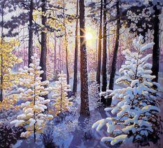 levkonoe | С.Пузыревский. Зимнее утро в лесу