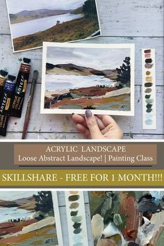 In this class, I will be teaching you how to turn a simple reference photo into a 'Loose Acrylic Landscape with a Limited Color Palette!' From color study exercises to step by step painting…
