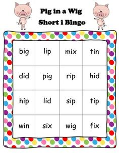 Enhance your student's use of short i by using the Pig in a Wig short i bingo. The bingo game correlates with TEKS and Reading Street. If you like this game, I have a couple of other activities in my store that also go with Pig in a Wig and short i.Thanks!